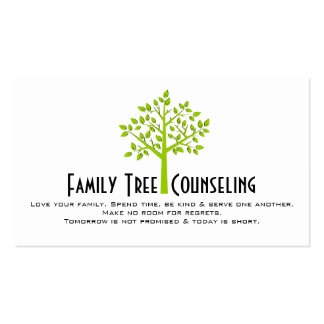 Green Tree Family Counseling Life Coach Spiritual Business Cards