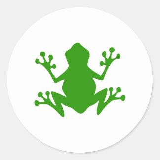 Green Tree Frog Classic Round Sticker