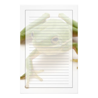 Green Tree Frog Stationery