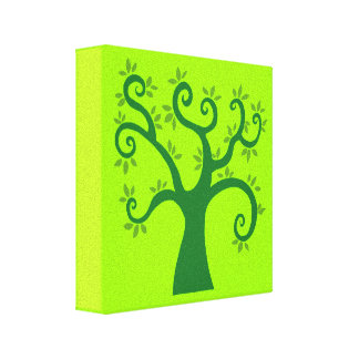 Green Tree graphic causes environment fairytale Canvas Print