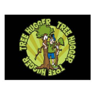 Green Tree Hugger Post Cards