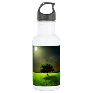 Green Tree in the Moonlight 532 Ml Water Bottle