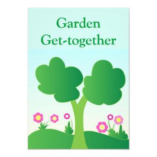 Green tree Invitation