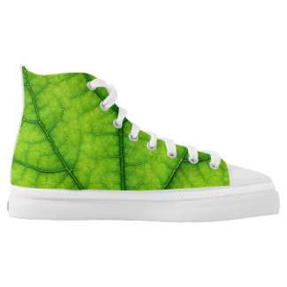green tree leaf texture nature pattern printed shoes
