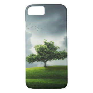 Green tree nature scenery illustration iPhone 7 case