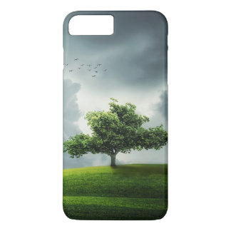 Green tree nature scenery illustration iPhone 7 plus case