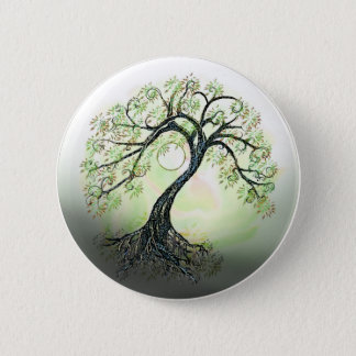 Green Tree of Life Moon Button
