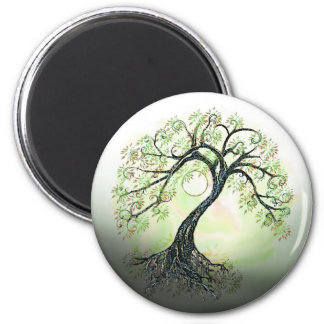Green Tree of Life Moon Magnet