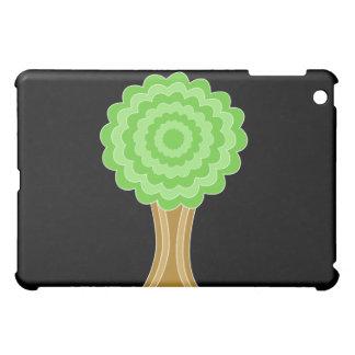 Green Tree. On black background. iPad Mini Case