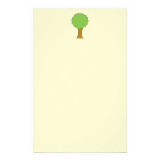 Green Tree. On cream background. Flyers