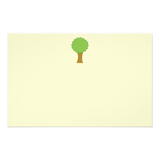 Green Tree. On cream background. Full Color Flyer