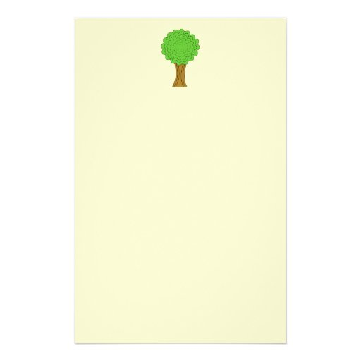 Green Tree. On cream background. Custom Flyer