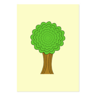 Green Tree. On cream background. Pack Of Chubby Business Cards