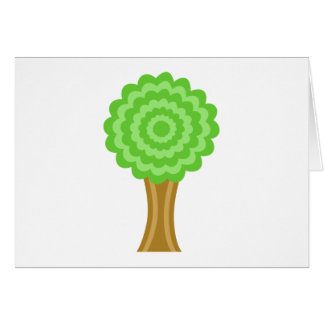 Green Tree. On white background. Card