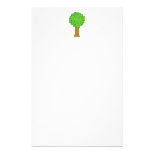 Green Tree. On white background. Custom Personalized Flyer