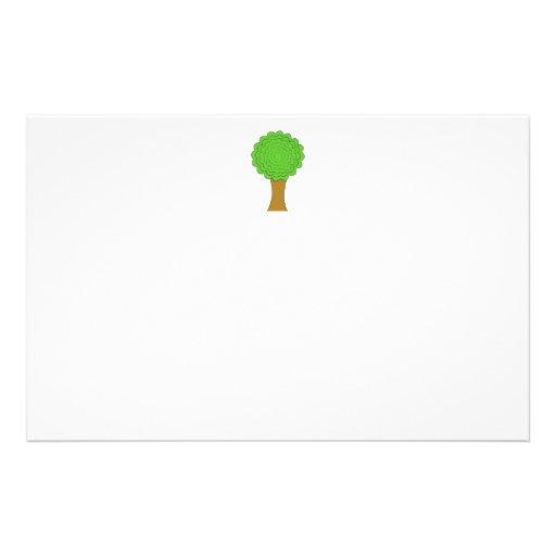 Green Tree. On white background. Custom Flyer Design