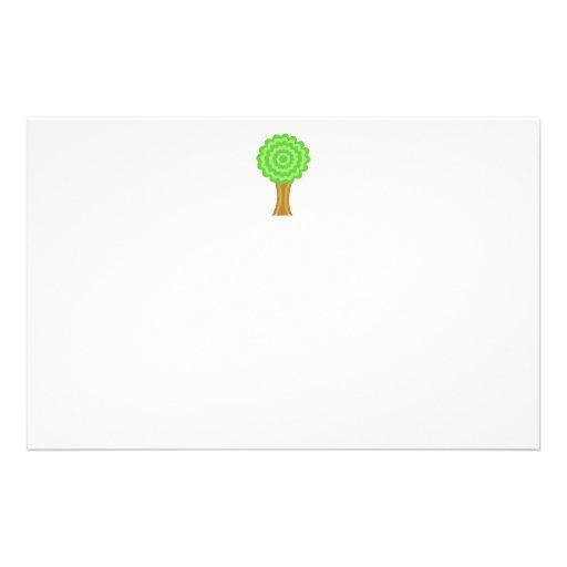 Green Tree. On white background. Custom Flyers