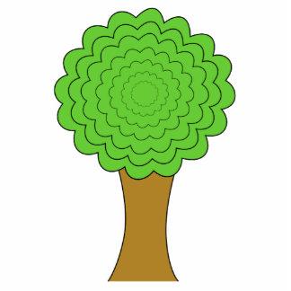 Green Tree. On white background. Custom Photo Sculpture Badge