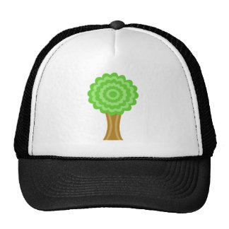 Green Tree. On white background. Mesh Hat