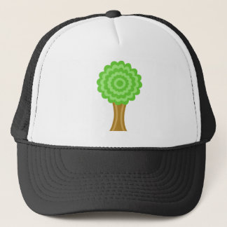 Green Tree. On white background. Trucker Hat