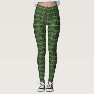 Green Tree Pattern Leggings