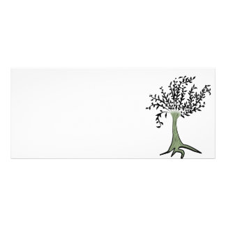 Green tree rack card design