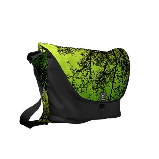 Green Tree Silhouette Rickshaw messenger bag