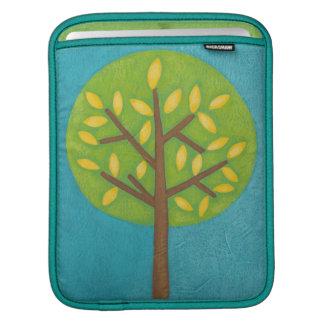 Green Tree with Yellow Leaves by Chariklia Zarris iPad Sleeve