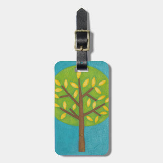 Green Tree with Yellow Leaves by Chariklia Zarris Luggage Tag