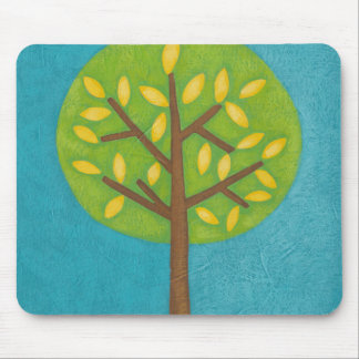 Green Tree with Yellow Leaves by Chariklia Zarris Mouse Mat