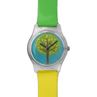 Green Tree with Yellow Leaves by Chariklia Zarris Watch