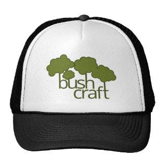 Green trees, bush craft trucker hat