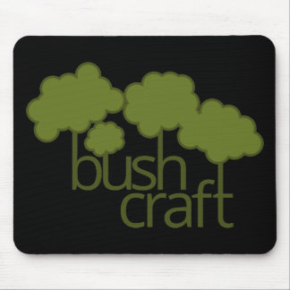 Green trees, bush craft mouse pad