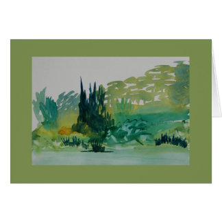 Green Trees in Corbières Card