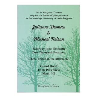 "Green Trees 5"" X 7"" Invitation Card"