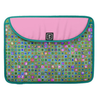 Green Trellis Textured Mosaic Tiles Pattern MacBook Pro Sleeves