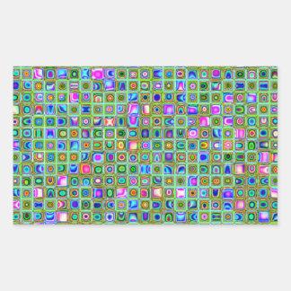 Green Trellis Textured Mosaic Tiles Pattern Stickers