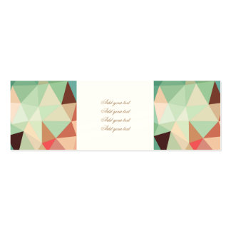 green,trendy,graphic,design,pattern,modern,chic,fu pack of skinny business cards