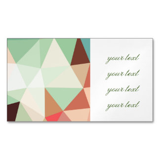 green,trendy,graphic,design,pattern,modern,chic,fu magnetic business cards