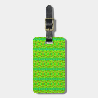 Green trendy pattern bag tag