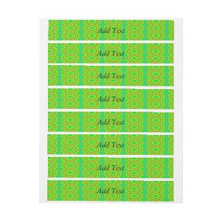 Green trendy pattern wraparound address label