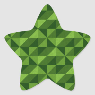 Green Triangle Artistic Abstract Pattern Star Sticker