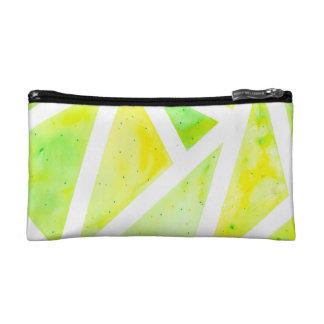 Green Triangle Cosmetic Bag