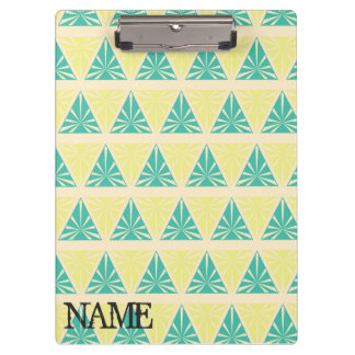 Green Triangle Pattern by storeman Clipboards