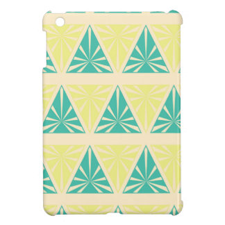 Green Triangle Pattern by storeman Cover For The iPad Mini