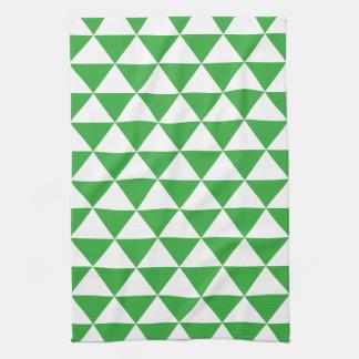 Green Triangle Pattern Tea Towel