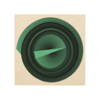 green triangle wood print