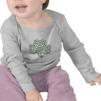 green tribal shamrock infant bodysuit