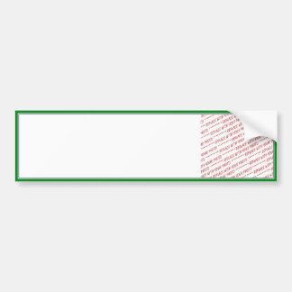 Green Trimmed Border Template Bumper Stickers