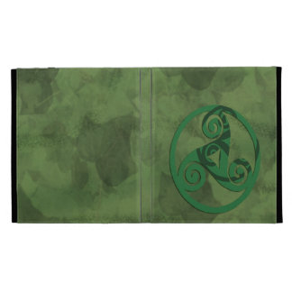 Green Triskel iPad Folio Cover